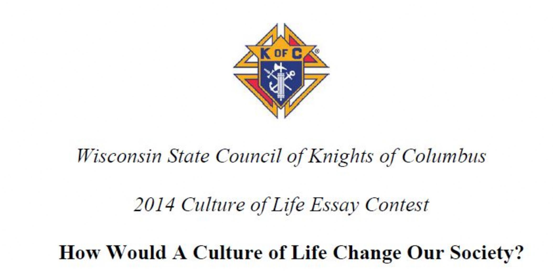 knights of columbus respect life essay < college paper academic knights of columbus respect life essay